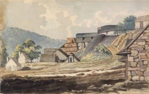 Warwick Furnace circa 1812, Watercolor by Benjamin  Latrobe